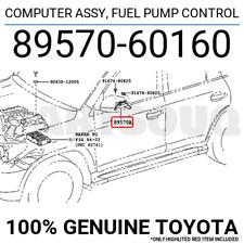 8957060160 Genuine Toyota COMPUTER ASSY, FUEL PUMP CONTROL 89570-60160