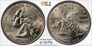2001 D Washington State Quarter New York Reverse PCGS MS63
