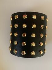 Michael Kors Leather Cuff With Gold Studs