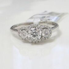 Solitaire with Accents Very Good Natural Fine Diamond Rings