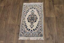 Enchanting Small Handmade Light Nain Persian Area Rug Oriental Carpet 1ʹ5X2ʹ5