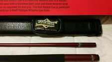 American Heritage red rocket pool cue and case combo. $100 retail.