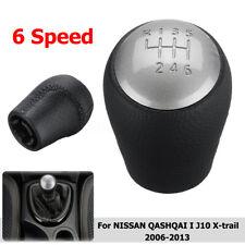6 Marce Pomello Leva Del Cambio Pelle Manopola Per Nissan Qashqai X-Trail Mt