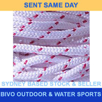 Double Braid Polyester Marine Sailing General Purpose Rope 6mm x 100M Red Fleck