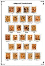 Nederlands Indie puntstempels op Willem III van 1 t/m 27 ; opruiming, sale