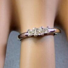 14 ct GOLD second hand white gold three stone diamond ring