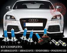 AUDI TT 8J 2006-2014 SET COMPLETO LAMPADE BLU XENON + POSIZIONE A LED