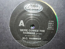 "M.C. Hammer ""Here Comes The Hammer"" 1990 CAPITOL Oz 7"" 45rpm"