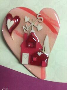 LUCINDA House Pin Valentine's Day Weather Vane Heart Shape LOVE Rare Brooch