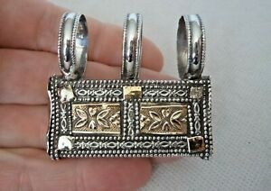 ANTIQUE EASTERN / PERSIAN? SOLID SILVER QURAN HOLDER AMULET