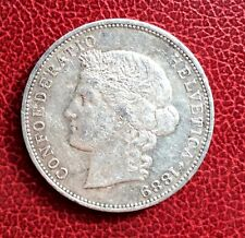 Suisse -  Rare  et Très Jolie Monnaie de 5 Francs 1889 - Helvetia