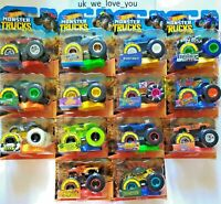 HOT WHEELS MONSTER TRUCKS *CHOOSE YOUR FAVOURITE* TRUCK SCALE 1:64 DIECAST TOP