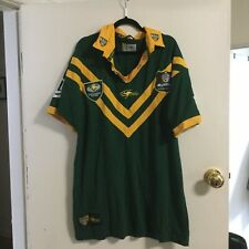 CLASSIC ARL KANGAROOS Mens Vintage Cotton Rugby Jersey size L Playstation Logo