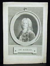 Jean-Jacques Dortous de Mairan Bézier mathématicien astronome géophysicien
