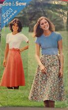 Vtg Butterick See & Sew pattern 3203 Misses' Wrap Skirt size waist 23 - 28 uncut