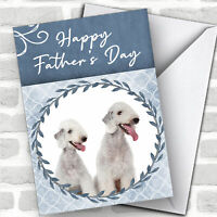 Bedlington Terrier Dog Traditional Animal Customised Father's Day Card