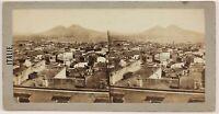 Panorama Da Napoli Italia Foto Stereo Th1L8n Vintage Albumina c1860
