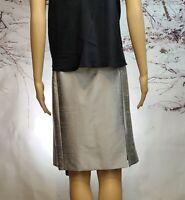 Women's Gray Business/Dress 100% Silk Mini Skirt Brand Unknown