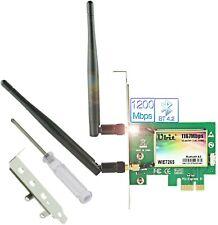 Ubit Scheda WiFi Senza Fili   11AC Scheda Wireless PCIe Fino a 1200 MbBluetooth