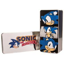 Official Classic Sonic 3 Pack of Mens Socks in Gift Tin - Classic the Hedgehog