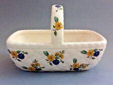 Elizabeth Arden Ceramic Basket With A Floral Design