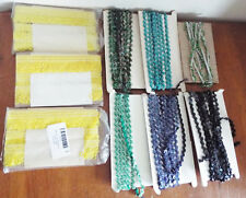 9 Rolls Trimmings / Fancy Lace with Beads - some part used - costume makers