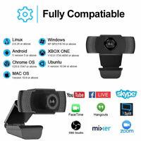 Genuine 1080P Autofocus Webcam Camera Digital Web Cam w/ Mic For Laptop Desktop