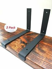 "2 Pack - 11.25""x6"" Lip Wall Shelf Brackets Angle Metal Shelve Modern Rustic"