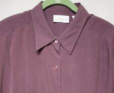 Liz Claiborne Collection, Women's 100% Silk Buttondown Shirt, Size 16, Purple