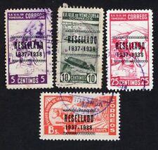Venezuela 1937 4 stamps Mi#215-18 used CV=125€