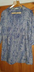 White Stuff blue tunic size 16