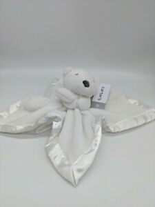 NWT Carter's White Polar Bear Security Blanket Baby Lovey Toy #67607 Black Nose
