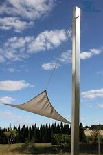 Sonnensegelmast Sonnensegel Mast aus Edelstahl in Standardlängen und Sonderlg.