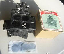 Vintage QUEEN Miniature Cast Iron wood burning Stove salesman sample NOS in box