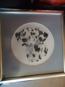 Counted Cross Stitch Framed Glazed Picture - Dalmatian Dog