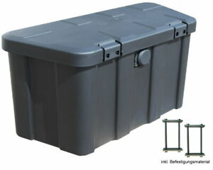 Anhängerbox,Gurtkiste, Deichselbox 45 Liter, inkl. Befestigungsmaterial