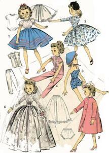 Doll Clothes Pattern 8453 Little Miss Revlon Toni Crown Princess Sally Star Jill