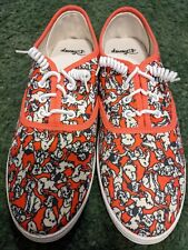 Disney Shoes 101 Dalmations Size 11 Mens Never Worn Red White Dogs curly ties