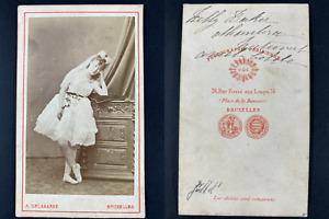 Delabarre, Bruxelles, Lilly Baker Vintage cdv albumen print. Tirage al