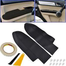 2PCS Interior Front Door Armrest Cover Panels For Honda CRV CR-V 2007-2011 Black