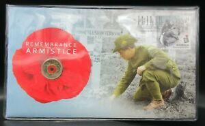 2018 Remembrance ARMISTICE $2 'C' UNC Red Poppy Coin PNC