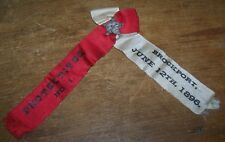 1896 ANTIQUE PROTECTIVES BROCKPORT NY FIREMAN RIBBON