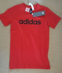 ADIDAS YB LINEAR TEE Red Kid 9-10Y New With Tags