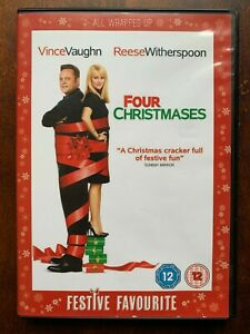 Four Christmases DVD 2008 Festive Romcom Comedy Movie w/ Reese Witherspoon