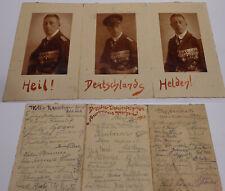 """""""Seeteufel"""" Felix Graf Luckner: 3 Fotos & Autogramme 1922 Dresdner Liedertafel"""