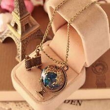 Chain Copper Accessories Gift Globe Telescope Pendant Necklace Sweater Chain