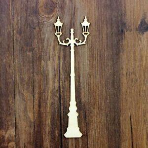 12Pcs/set Lights Street lamp For Home Decoration Wooden DIY scrapbooking