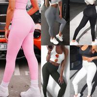 Womens Seamless Silm Leggings Gym Sportswear Yoga Pants Running Training Fitness