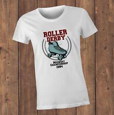 Roller Derby championship T-Shirt - Roller Derby fans, retro eighties tee design