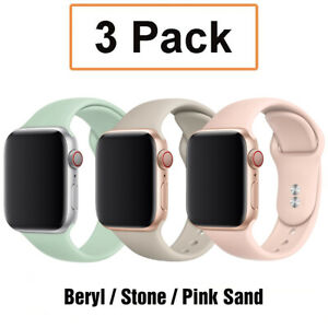 For Apple Watch 6 5 4 1 iWatch SE 38 42 44mm 3 Pack Silicone Sport Band Strap E6